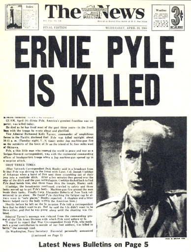 1 Ernie Pyle Is Killed