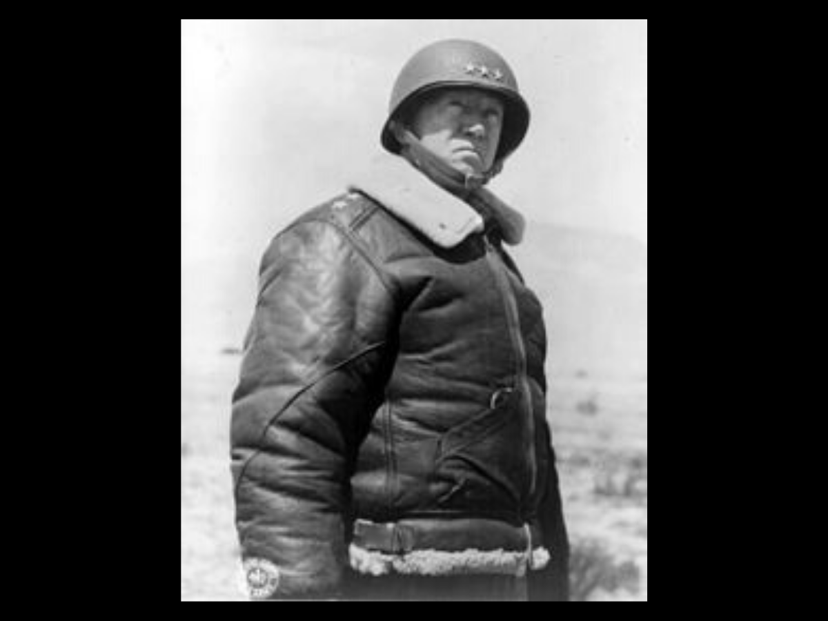 1 General George S. Patton, commander of the Seventh United States Army, in 1943