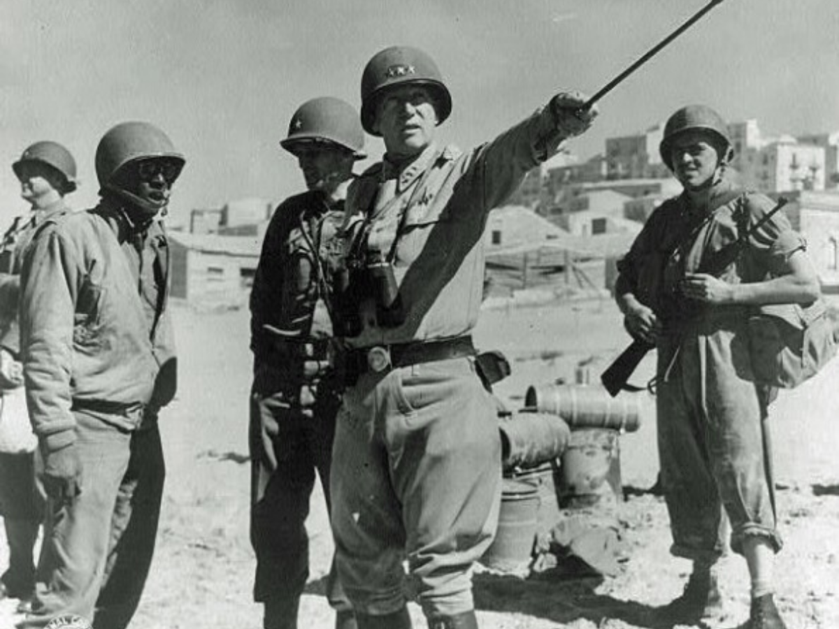 2 General George S. Patton in command of US forces on Sicily