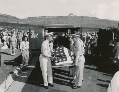 The body of Ernie Pyle laid to final rest
