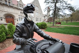 3 Statue of Ernie Pyle in Front of Media School at Indiana University