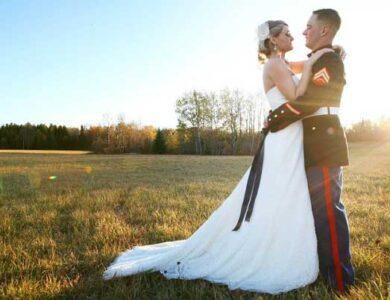 Brett and Whitney Foley on their wedding day.